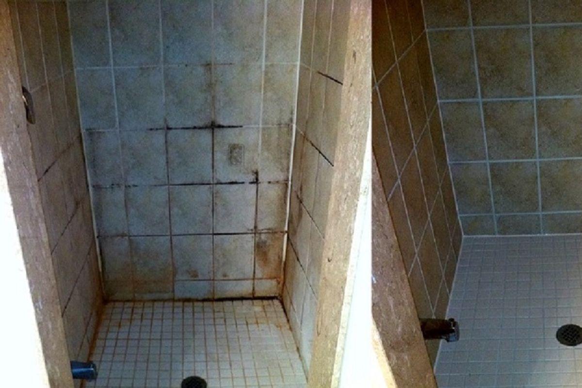 Incre ble t cnica para limpiar los azulejos del ba o mil veces m s potente que el cloro - Con que limpiar los azulejos del bano ...
