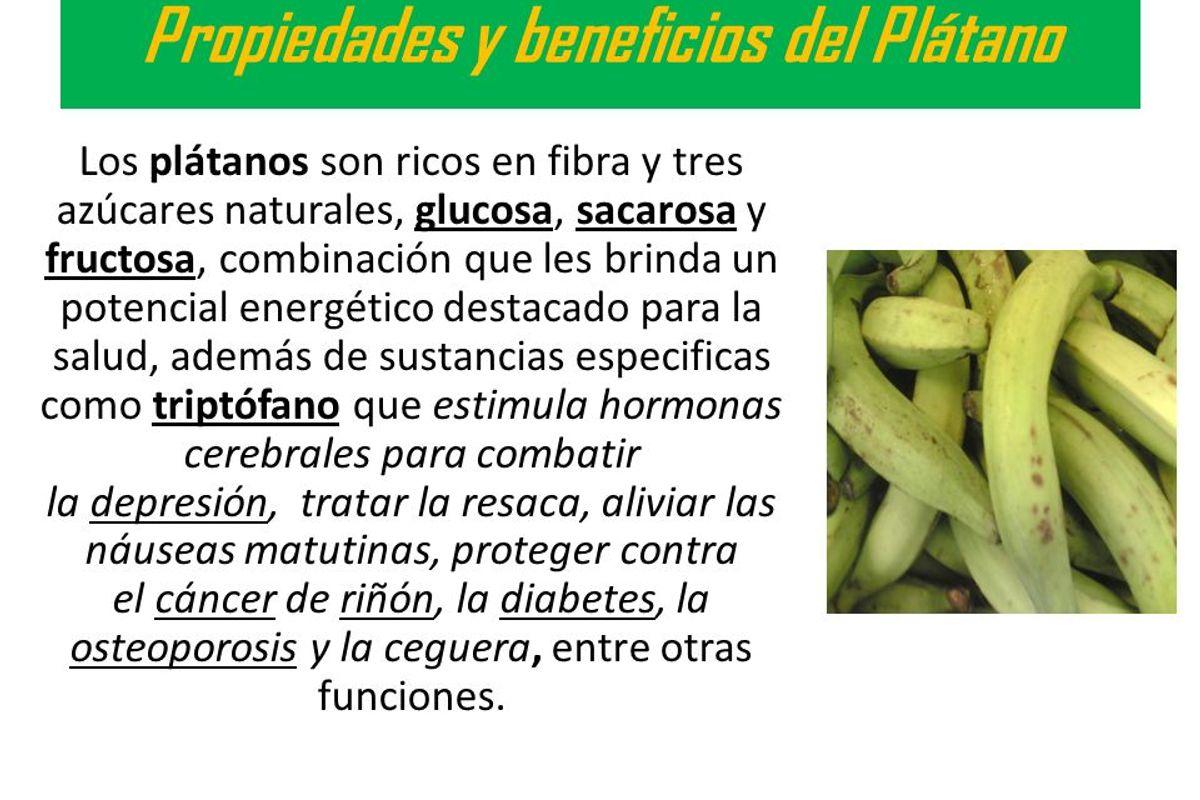 El consumo de plátano verde te controla el peso, regula la
